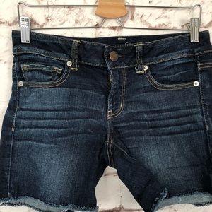 American Eagle Outfitters Shorts - American Eagle Dark Wash Denim Cut Off Shorts